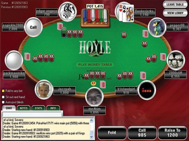 Name a card game played in a casino bonus casino double double online